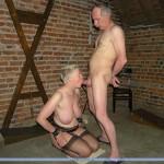 Older Man Gets His Slave Girl Sucking