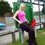 Uk Flasher Peeing In Public Bus Shelter