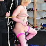 Funky Blonde Girl Humiliated Hardcore