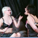 blonde mistress humiliating her brunette slave girl