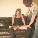 Amatuer blonde girl spanked and humiliated