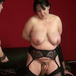Chubby older babe fucked by mistress