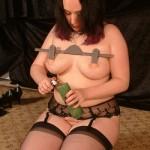 busty slave girl humiliates herself